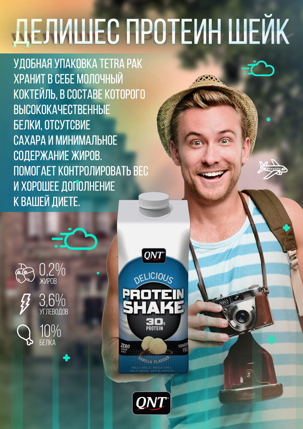 Delicious Protein Shake 330 мл (QNT)