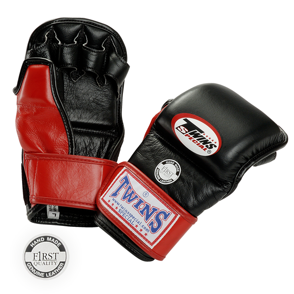 Перчатки MMA GGL-2 Grapping gloves липучка кожа (Twins)
