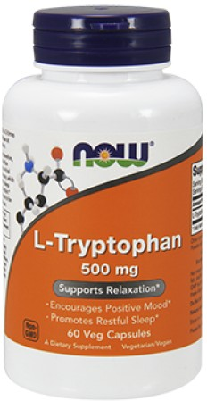 L-Tryptophan 500 мг 60 гк (NOW)